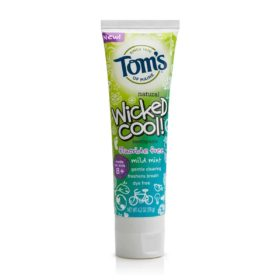 Tom's Of Maine Wicked Cool Mild Mint Kid's Toothpaste Fluoride Free 1