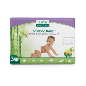 Aleva Naturals Bamboo Baby Diapers, Size 3