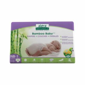 Aleva Naturals Bamboo Baby Diapers, Size 1