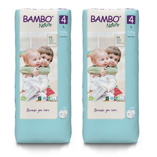 Bambo Nature Eco Friendly Diaper Size 4 (7-14kg) Value pack
